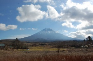 静岡側からみた富士山